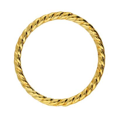 Zierring, innen 22mm,26x2mm, goldfarben, Metall