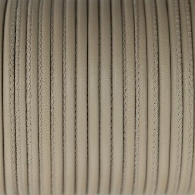 Premium Nappaleder rund gesäumt, 100cm, 4mm, GRAU-TAUPE