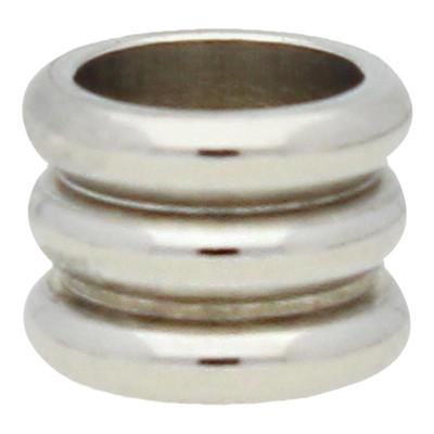 Grosslochperle, innen 4mm, 4,5x5,5mm, Edelstahl auch als Positionierungsperle verwendbar