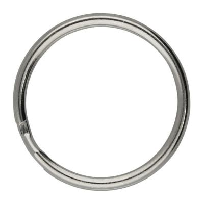 Schlüsselring, Spiralring, rund, 1 Stück, 20x2mm, Metall, silberfarben