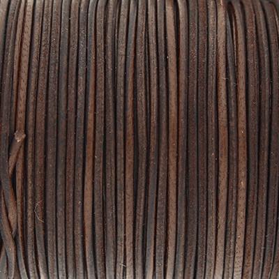 Rundriemen, Lederschnur, 100cm, 1mm, SCHOKOLADENBRAUN
