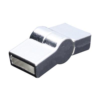 Magnetverschluss, 10x2,5mm, 26x12mm, Metall, silberfarben