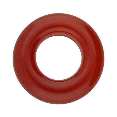 Zierring, innen 8mm, 10x10mm, rot, Achat