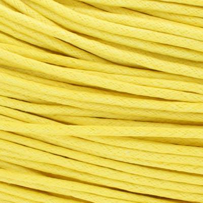 Gewachstes Schmuckband aus Baumwolle, 100cm, 2mm breit, gelb