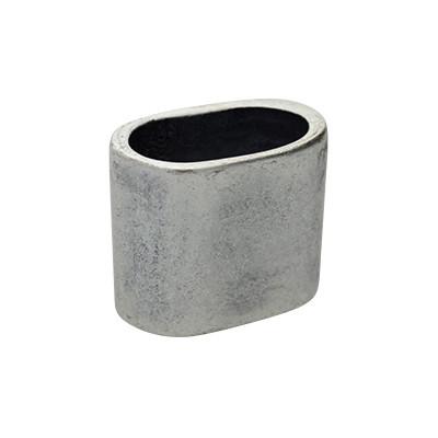 Riesenslider, Viereck, 23x19 mm, innen 19x11 mm, silber matt
