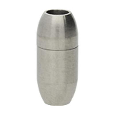 Magnetverschluss, 4mm, 18x8mm, Edelstahl, matt, silberfarben