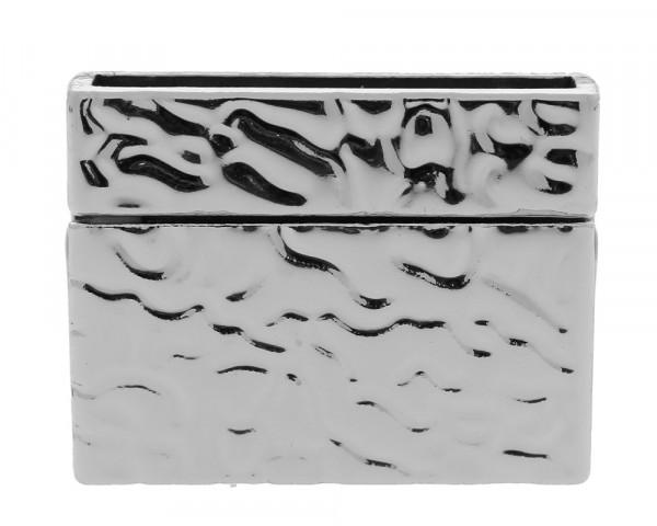 Magnetverschluss, innen 25x3mm, 23x28x6mm, platinfarben, Metall