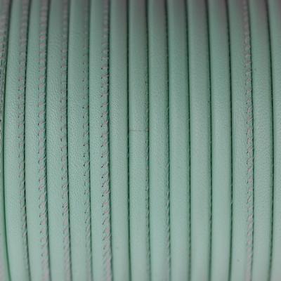 Premium Nappaleder rund gesäumt, 100cm, 4mm, MEERESBLAU