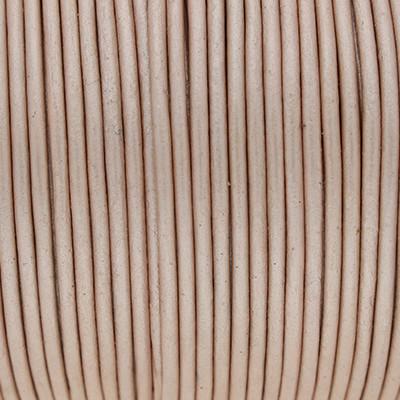Rundriemen, Lederschnur, 100cm, 2mm, METALLIC CAMEO ROSE
