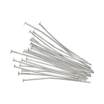 Nietstifte (50 Stück), 35x0,7mm, Stäbchen (Stiftform), silberfarben, Metall