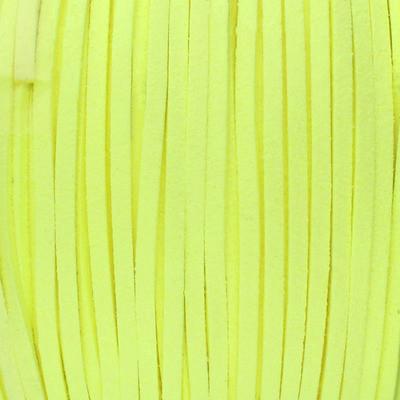 Textilband in Wildlederoptik (100cm), 3,0mm breit - NEON GELB