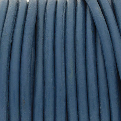 Rundriemen, Lederschnur, 100cm, 2mm, TINTENBLAU