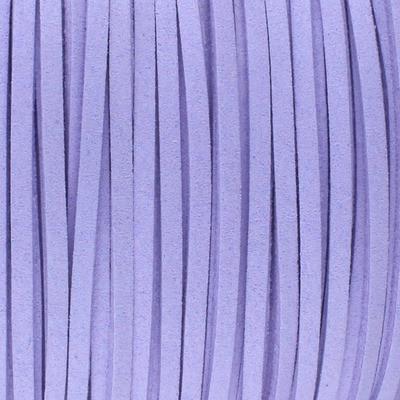 Textilband in Wildlederoptik (100cm), 3,0mm breit - VIOLETT