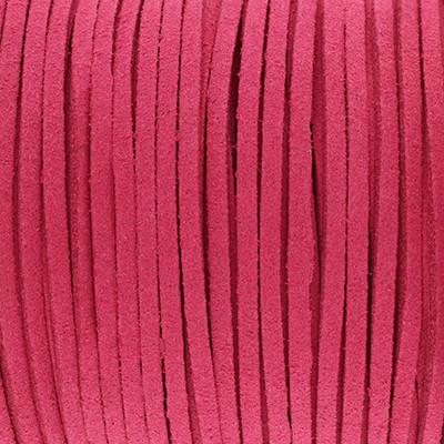 Textilband in Wildlederoptik 3,00mm - HIMBEERE