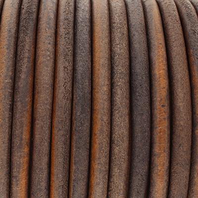 Rundriemen, Lederschnur, 100cm, 6mm, VINTAGE DUNKELGRAU