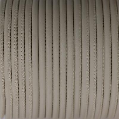 Premium Nappaleder rund gesäumt, 100cm, 4mm, CREME