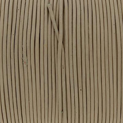 Rundriemen, Lederschnur, 100cm, 1mm, NATUR