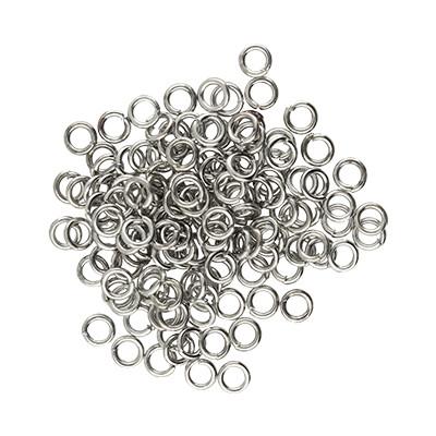 Bindering, rund, 50 Stück, 4mm, innen 2,5mm, M, platinfarben