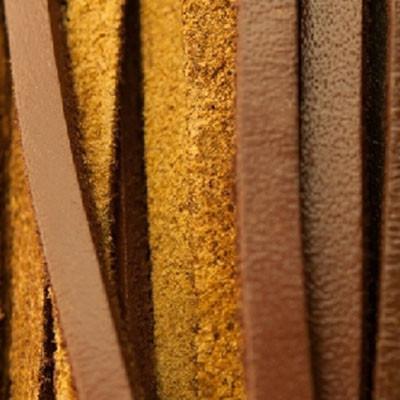 Flachriemen Rindsleder, 100cm, 3x2mm, SATTELBRAUN