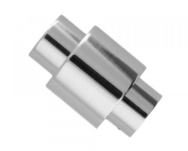 Magnetverschluss, 6mm, 20x12mm, Edelstahl, silberfarben