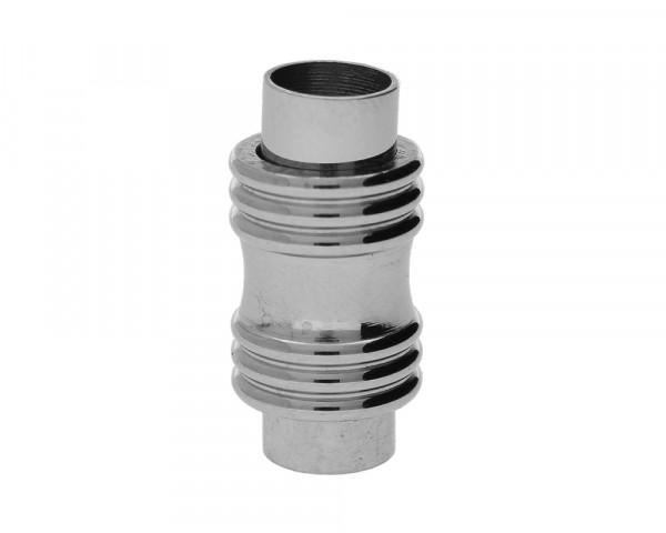 Magnetverschluss, 6mm, 20x10mm, Edelstahl, glänzend