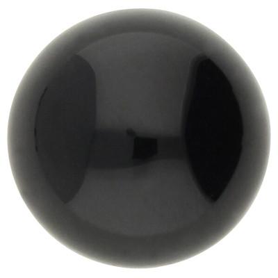 Cabochon, rund, 1 Stück, 10x5mm, Edelstein schwarzer Achat