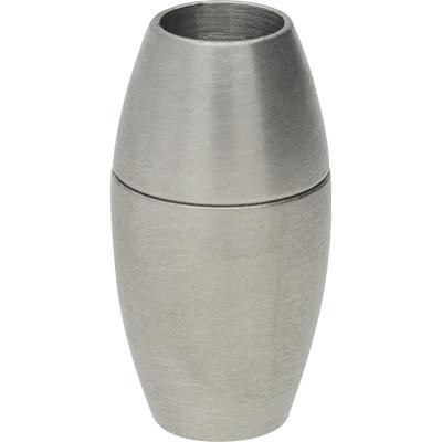 Magnetverschluss, 5mm, 18x9mm, Edelstahl, silberfarben matt