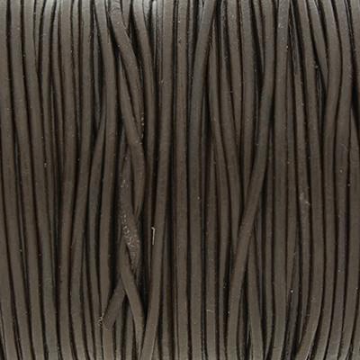 Rundriemen, Lederschnur, 100cm, 1mm, BISON