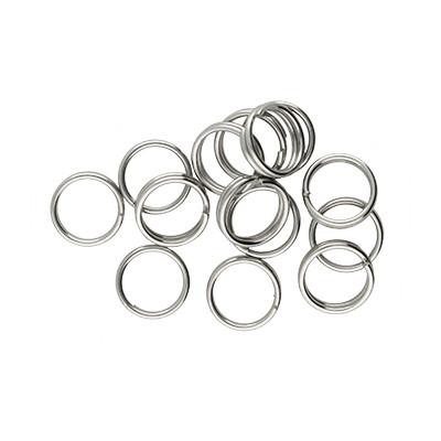 Spiralring, rund, 10 Stück, 7mm, innen 5,5mm, Edelstahl, platinfarben