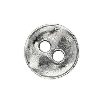 Anhänger, Knopf, 12x1,5mm, antik-silberfarben, Metall