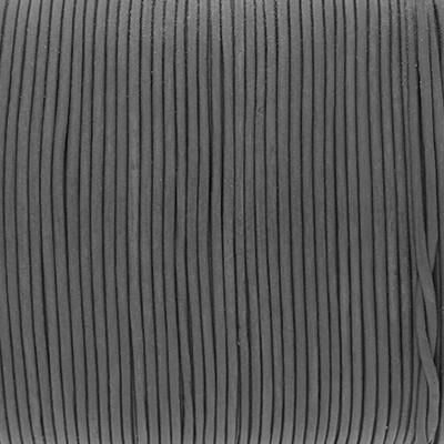 Rundriemen, Lederschnur, 100cm, 1mm, STEINGRAU