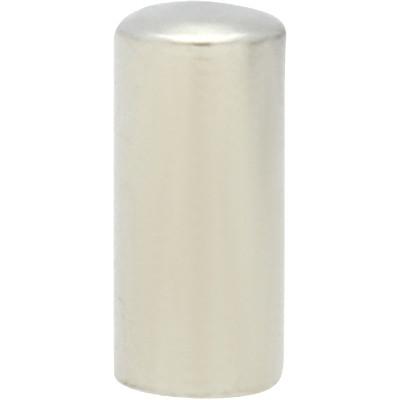 Endkappe mit Öse, 8x3,5mm, Loch-Ø 3,0mm, Edelstahl, silberfarben
