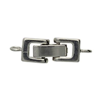 Armbandhaken-Verschluss,24x7x4mm, Loch Ø 1mm, silberfarben, Metall