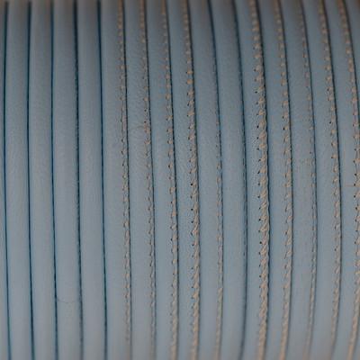 Premium Nappaleder rund gesäumt, 100cm, 4mm, HELLBLAU