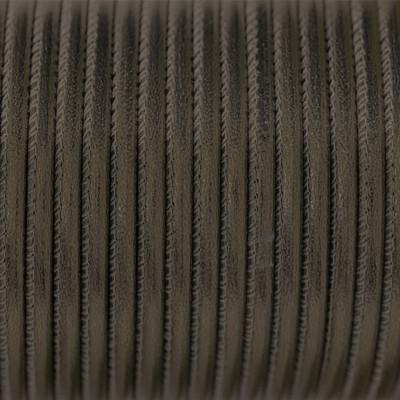 Premium Nappaleder rund gesäumt, 100cm, 4mm, METALLIC PLATIN