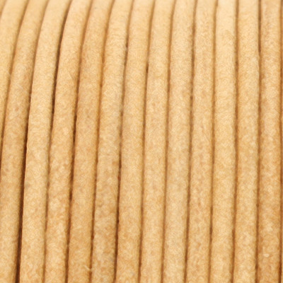 Rundriemen, Lederschnur, 100cm, 1mm, VINATGE NATUR