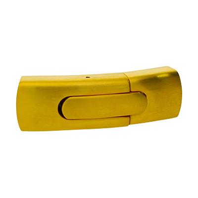 Bajonettverschluss, 43x14x9mm, innen 11x5.5mm, goldfarben, Edelstahl matt
