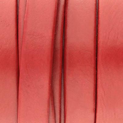 Flachriemen aus Nappaleder beidseitig, 10x2mm, 100cm, ROT