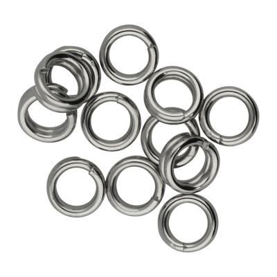 Spiralring, rund, 10 Stück, 6mm, innen 4,0mm, Edelstahl, platinfarben