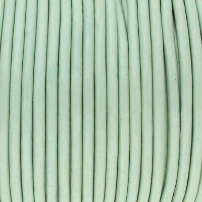 Rundriemen, Lederschnur, 100cm, 2mm, METALLIC PASTELLMINZE