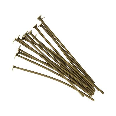 Nietstifte (50 Stück), 35x0,7mm, Stäbchen (Stiftform), bronzefarben, Metall