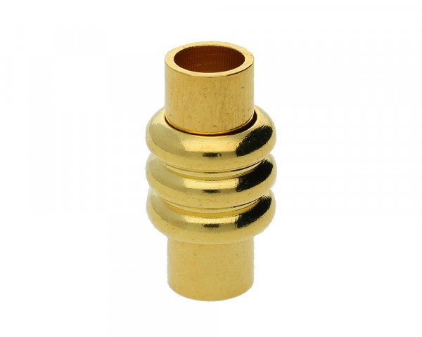 Magnetverschluss, innen 5mm, 19x10mm, goldfarben, Metall
