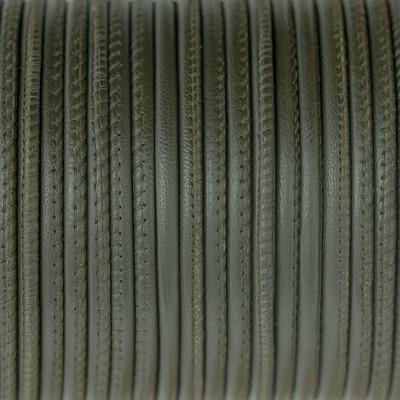 Nappaleder rund gesäumt, 100cm, 4mm, JÄGERGRÜN