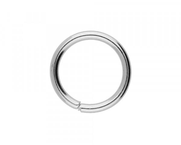 Bindering, rund, 10 Stück, 12mm, innen 9mm, Metall, silberfarben