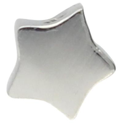 "Anhänger ""Stern"", 4,5x4,5mm, innen 1,3mm, silberfarben, Edelstahl"