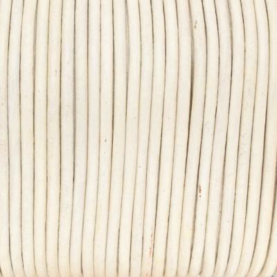 Rundriemen, Lederschnur, 100cm, 2mm, METALLIC PERLMUTT