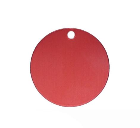 Anhänger, rund, Ø 32mm, rot, eloxiertes Aluminium