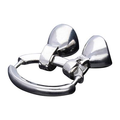 Armbandhaken-Verschluss, innen 5mm, 35x14mm, Metall, silberfarben