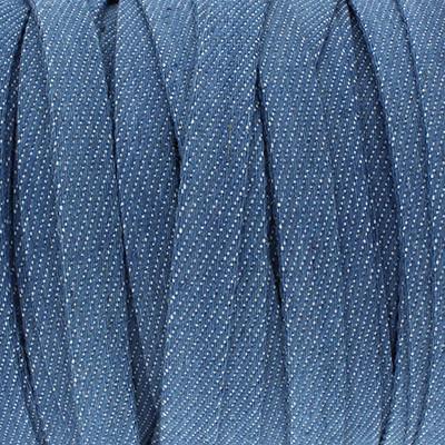 Flachriemen Denim, 100cm, 10x1mm, blau