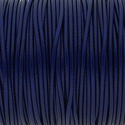 Gewachstes Schmuckband aus Baumwolle, 100cm, 1,5mm breit, DUNKELBLAU